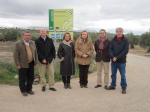 La delegada de Agricultura y Medio Ambiente inaugura estas actuaciones, que se han prolongado durante 6 meses con una inversión de 235.900 euros.