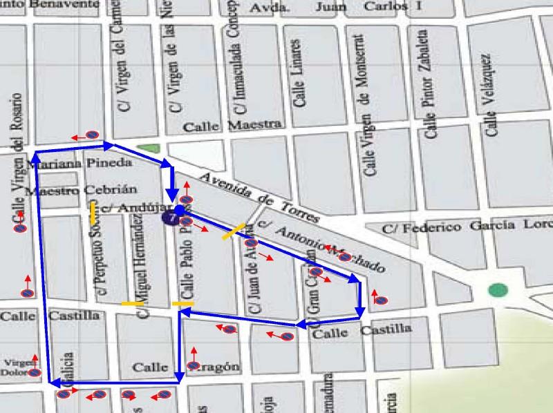 Itinerario procesiones de la Parroquia de La Encarnacion