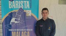 Photo of Ángel David Rentero entre nueve de los mejores baristas expertos preparadores de café de Andalucía