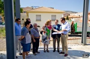 El Delegado y la Alcaldesa visitan las obras del nuevo apeadero de autobuses