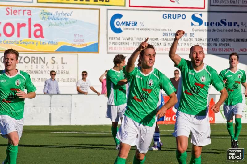 Carrillo celebra el primer gol