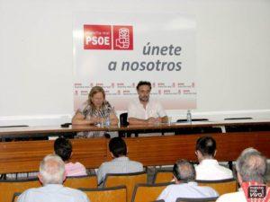 La Alcaldesa Micaela Martinez y el Senador socialista Felipe López