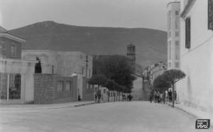 Esquina del convento en abril de1960