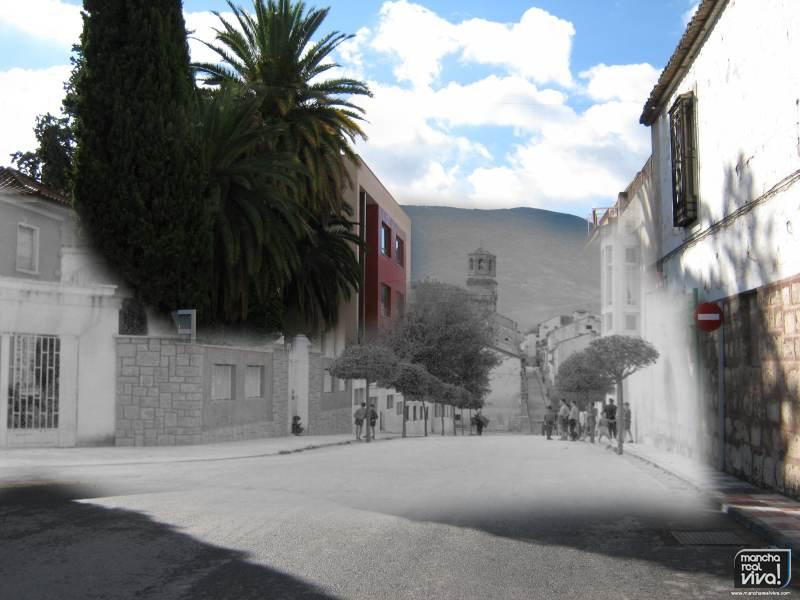 Mezcla Esquina del convento de 1960 y 2012