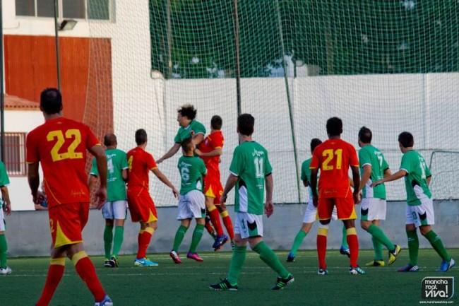 El At. Mancha Real frente al Real Jaén en pretemporada