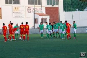 El At Mancha Real frente al Real Jaén en pretemporada