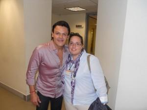 Con el Actor y Cantante Pedro Fernandez