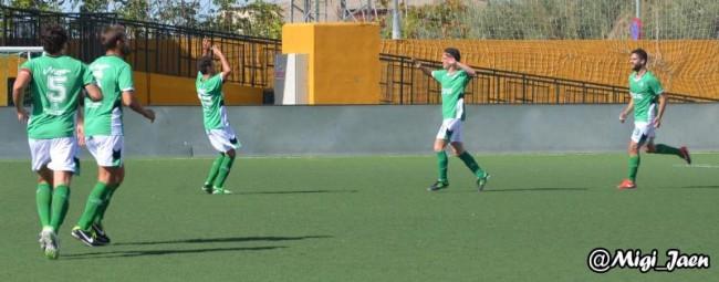 Celebración de un gol frente al Estepona