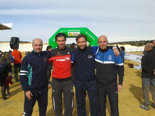 Paco Rosa, Ernesto Angulo, Manuel Gómez y Óscar Muñoz, tras la prueba.