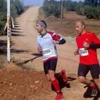 Manuel Gómez y Óscar Muñoz, durante la prueba