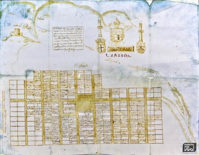 Mapa de La Mancha de 1548
