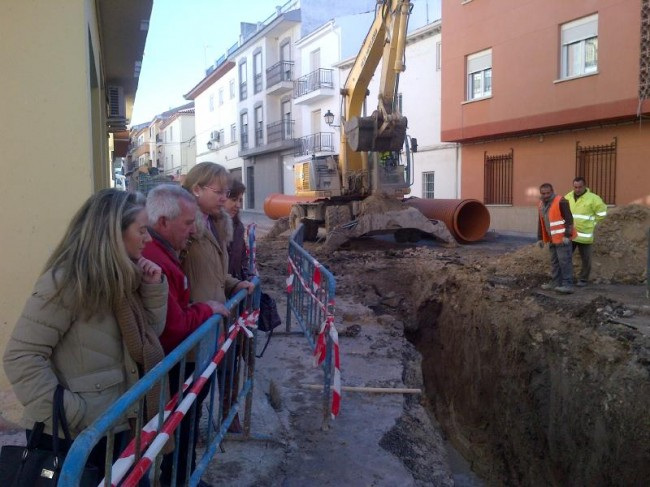 La alcaldesa y varios concejales visitan las obras