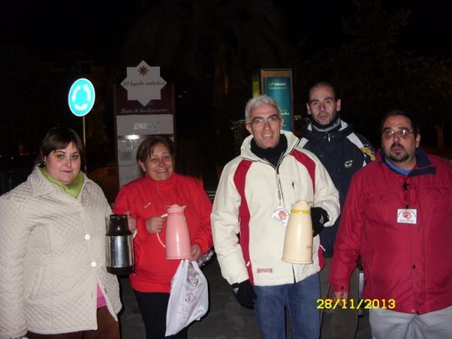 Voluntarios de Cáritas en la Operación Botellón