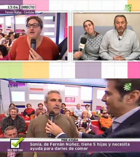 Conchi y Nicolás intervienen en directo para ayudar a la familia de Córdoba
