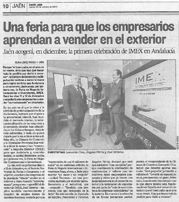 Noticia en el Diario Jaén