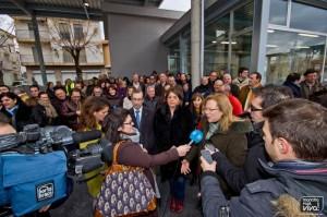 La Alcaldesa, Micaela Martínez atiende a los medios