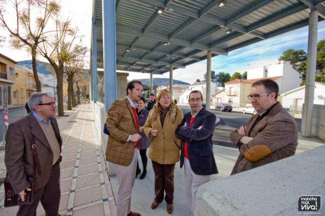 El Delegado y la Alcaldesa visitan las obras de la estación de autobuses