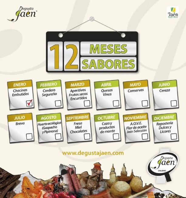 """Cartel de la campaña """"12 meses, 12 sabores"""""""