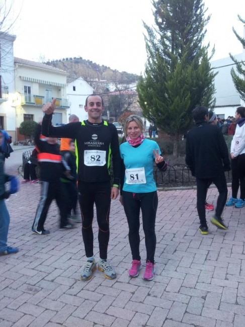 Alberto y Mari Carmen en la carrera de San Anton