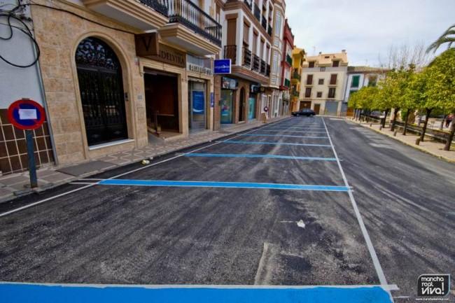 La nueva pavimentacion y señalizacion comenzó el pasado lunes
