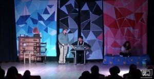 Los tres protagonistas en el comienzo del musical