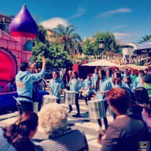 La nueva Batucada Saudação realizó una exhibición el sábado
