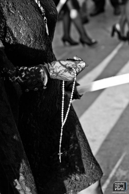 Las mantillas fueron protagonistas en la tarde del Viernes Santo