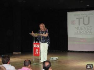 La alcaldesa Micaela Martínez inició el mitin