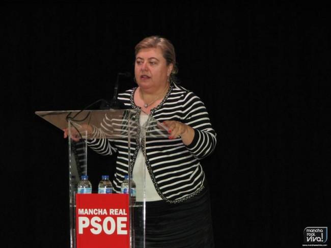 Clara Aguilera durante su intervención