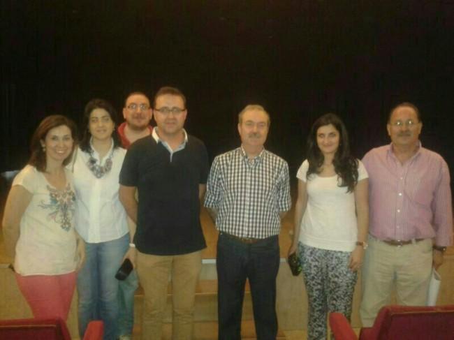 Juan Navas Ureña junto al grupo del departamento de matemáticas