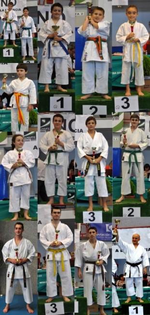Imagenes de los vencedores con los trofeos
