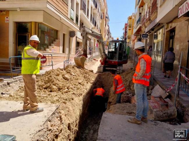 Las obras del tramo de la calle Maestra iniciadas