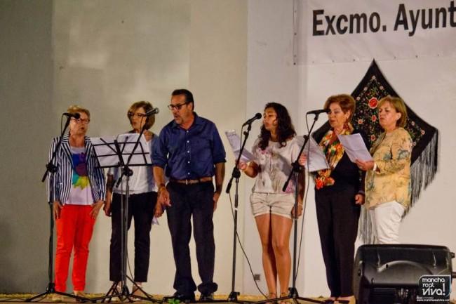 Los alumnos de canto de la Escuela de Musica Manuel Rosa durante su actuación