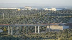 Viaducto que se dejó a medias y cuyas obras se retoman, en la variante de Mancha Real de la A-316. / IDEAL