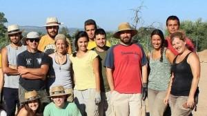 Grupo de arqueólogos en el momento del hallazgo. / M. R.