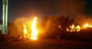 Se produce un incendio en una zona próxima al polígono de Mancha Real