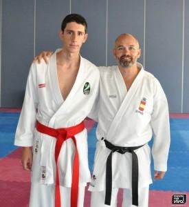 Fernando Sánchez con el seleccionador