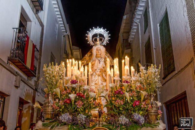 La Imagen de Ntra Señora de los Dolores en la procesión de la Fiesta de Estatutos 2014