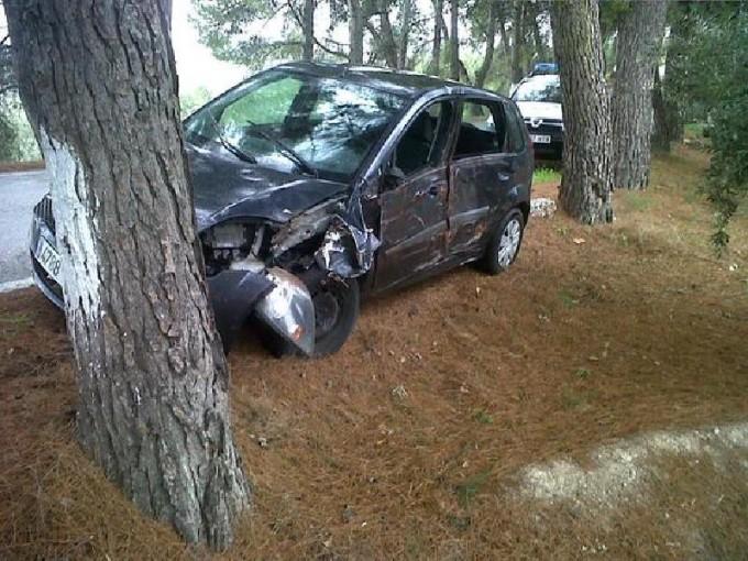 El coche siniestrado. Foto: Policía Local