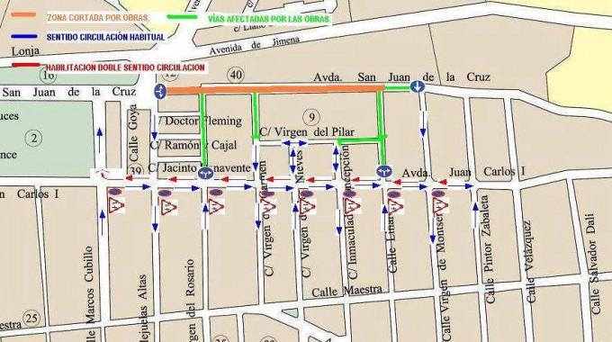 Mapa de las obras