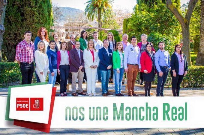 Foto de grupo del Psoe de Mancha Real 2015