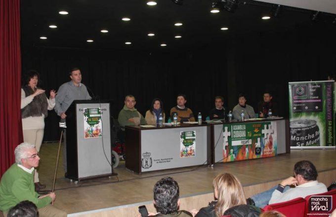 Ildefonso Ruiz candidato a la alcaldía de Mancha Real durante su intervención