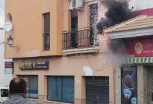 Photo of Llamativo incendio en un cajetín de luz cerca del colegio San Marcos