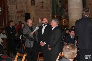 Don Mariano Cabeza, Juan Paulano y Manuel Restoy