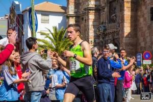 El atleta local Alberto Guzman fue segundo