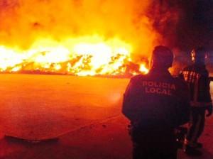 El incendio se produjo a las Foto: Policía Local
