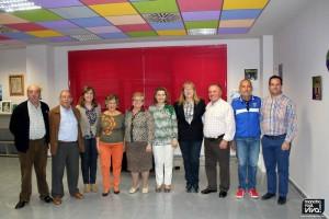 Coral con la Alcaldesa y  la Concejala de Cultura