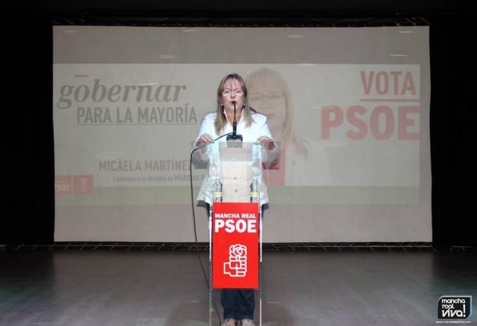 La Candidata Micaela Martínez en su turno