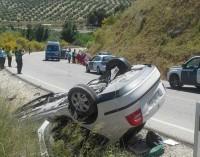 Heridas dos personas en una colisión entre dos vehículos en la A-320 entre Mancha Real y Jimena