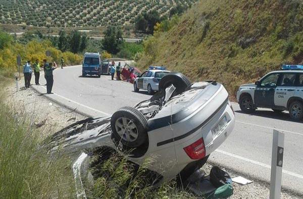 El accidente se produjo en la carretera que va hacia Jimena